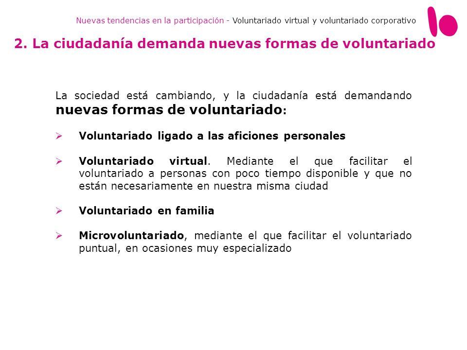 2. La ciudadanía demanda nuevas formas de voluntariado