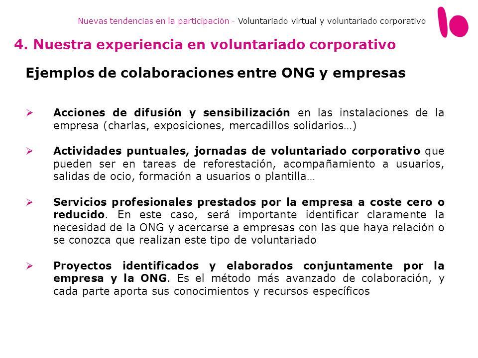 4. Nuestra experiencia en voluntariado corporativo