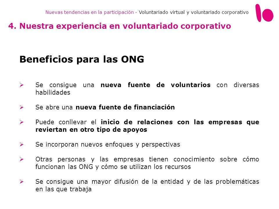 Beneficios para las ONG