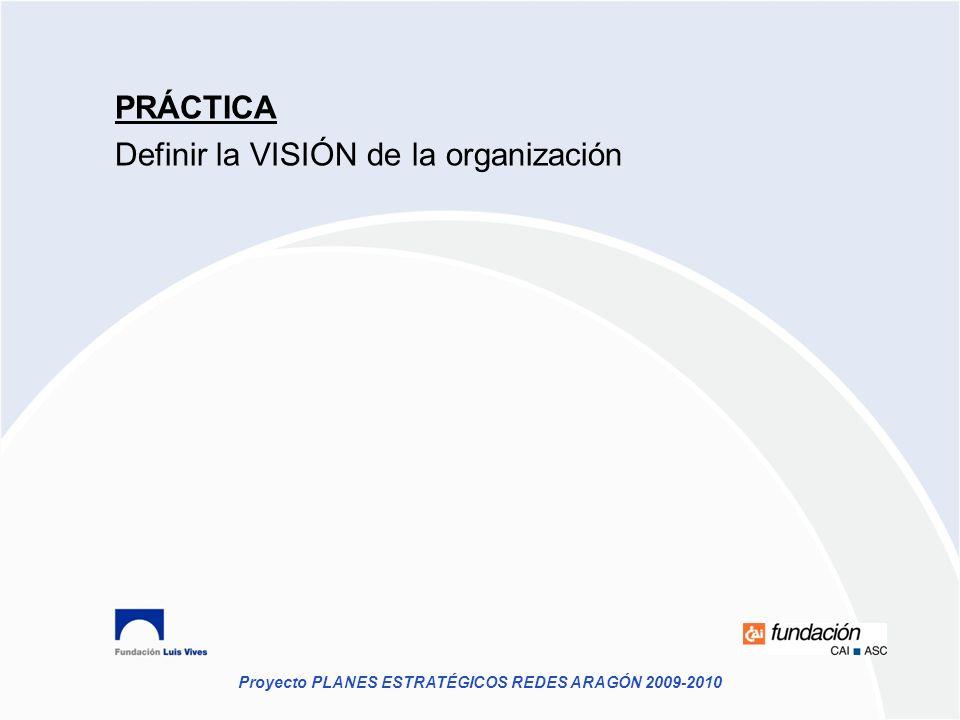 PRÁCTICA Definir la VISIÓN de la organización