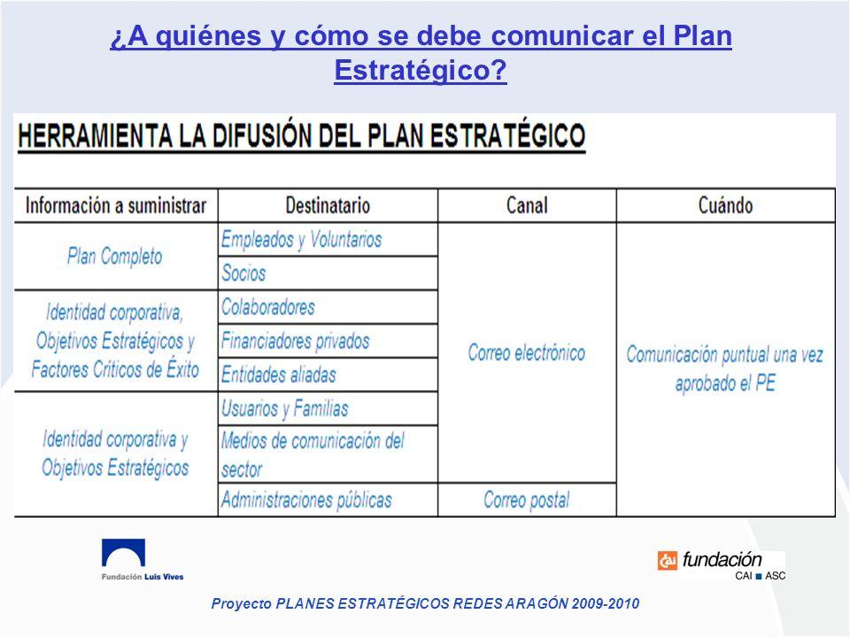 ¿A quiénes y cómo se debe comunicar el Plan Estratégico
