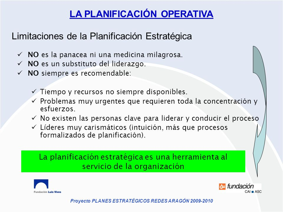 Limitaciones de la Planificación Estratégica
