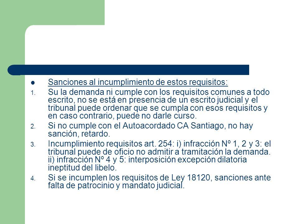 Sanciones al incumplimiento de estos requisitos: