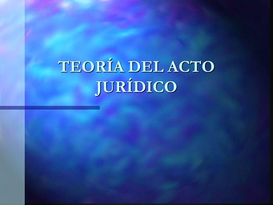 TEORÍA DEL ACTO JURÍDICO