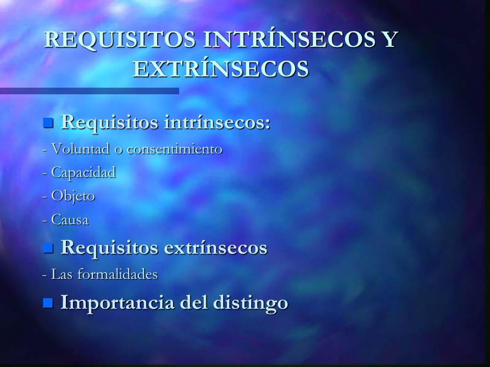 REQUISITOS INTRÍNSECOS Y EXTRÍNSECOS
