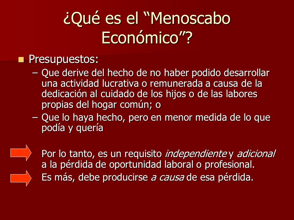 ¿Qué es el Menoscabo Económico