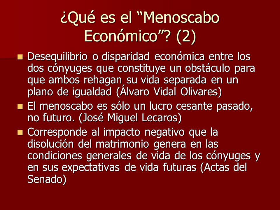 ¿Qué es el Menoscabo Económico (2)
