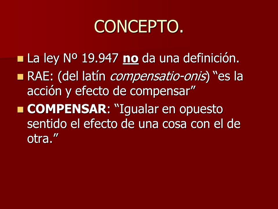 CONCEPTO. La ley Nº 19.947 no da una definición.