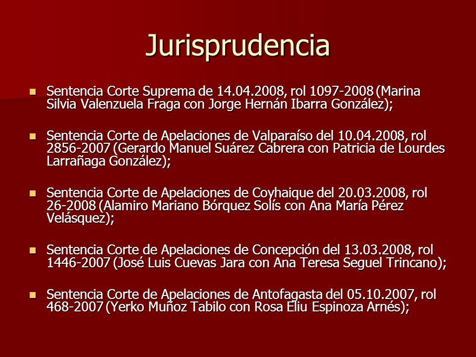 Jurisprudencia Sentencia Corte Suprema de 14.04.2008, rol 1097-2008 (Marina Silvia Valenzuela Fraga con Jorge Hernán Ibarra González);