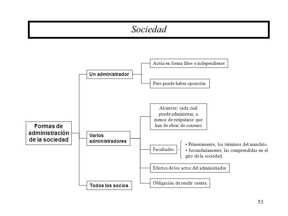Sociedad Formas de administración de la sociedad