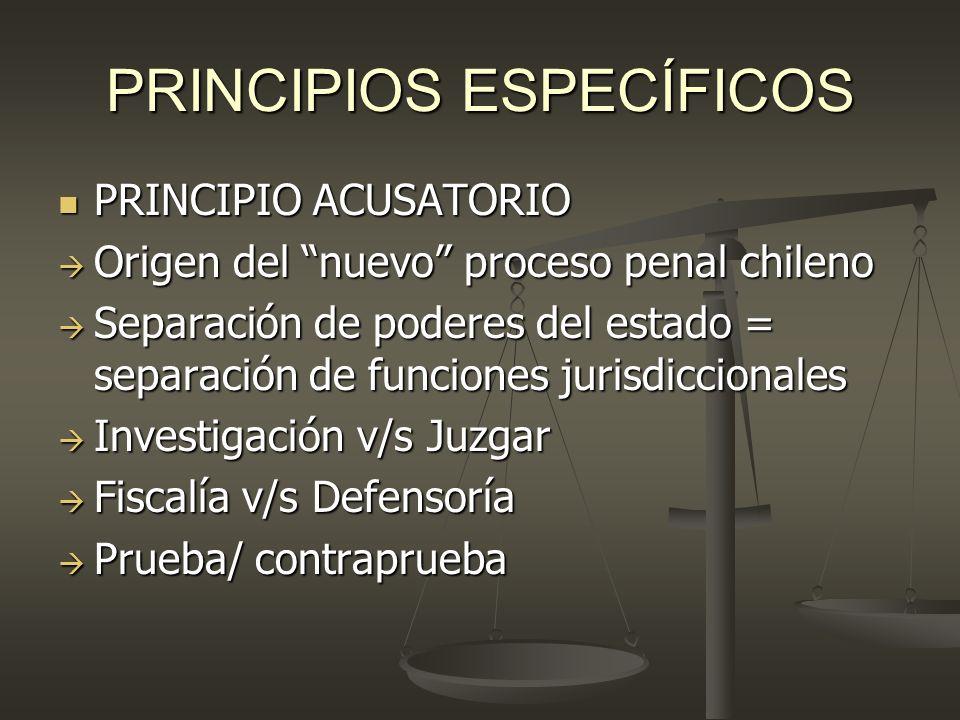 PRINCIPIOS ESPECÍFICOS