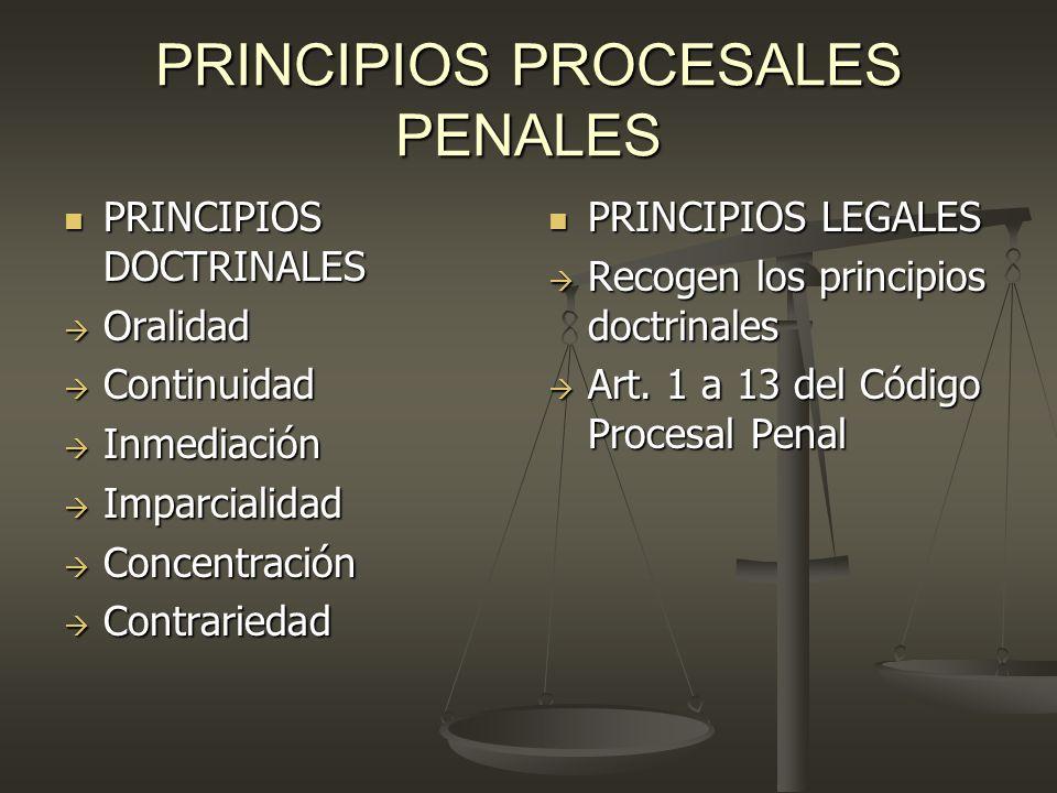 PRINCIPIOS PROCESALES PENALES