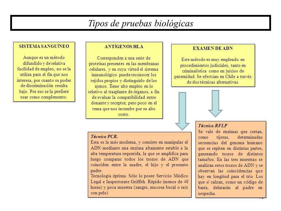 Tipos de pruebas biológicas