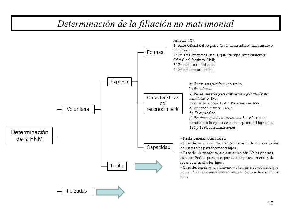 Determinación de la filiación no matrimonial