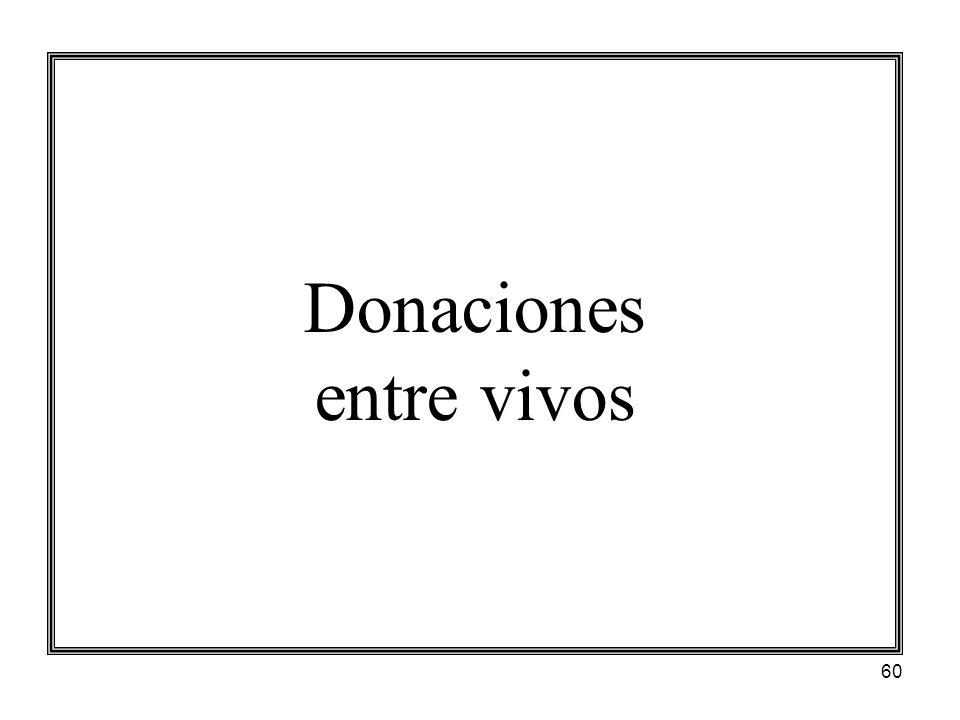 Donaciones entre vivos