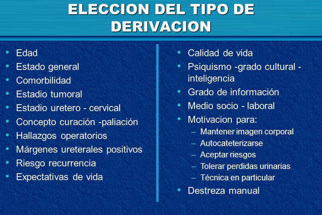 ELECCION DEL TIPO DE DERIVACION