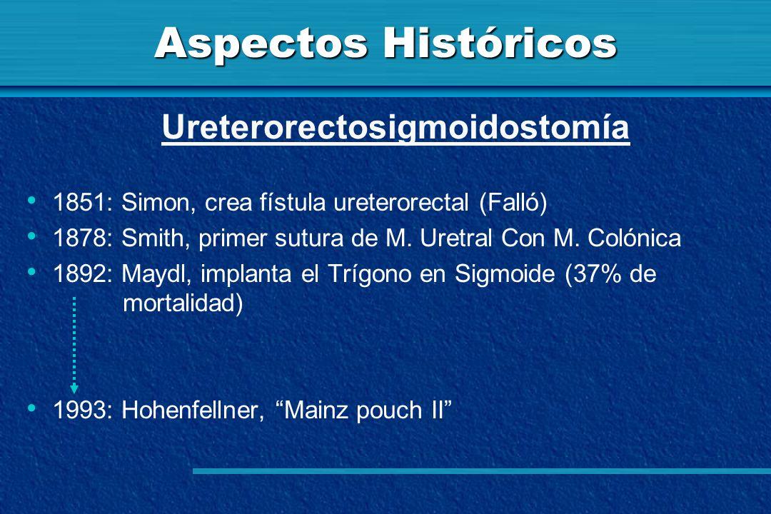 Aspectos Históricos Ureterorectosigmoidostomía