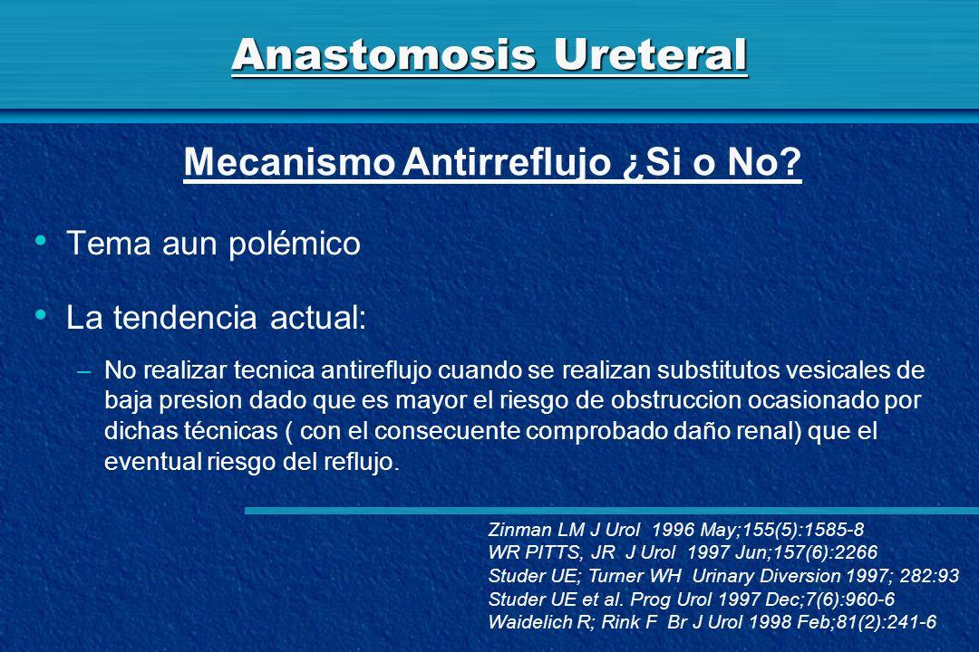 Anastomosis Ureteral Mecanismo Antirreflujo ¿Si o No