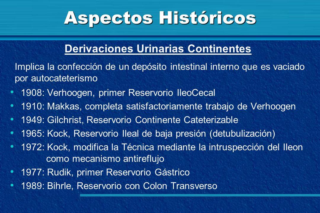 Aspectos Históricos Derivaciones Urinarias Continentes