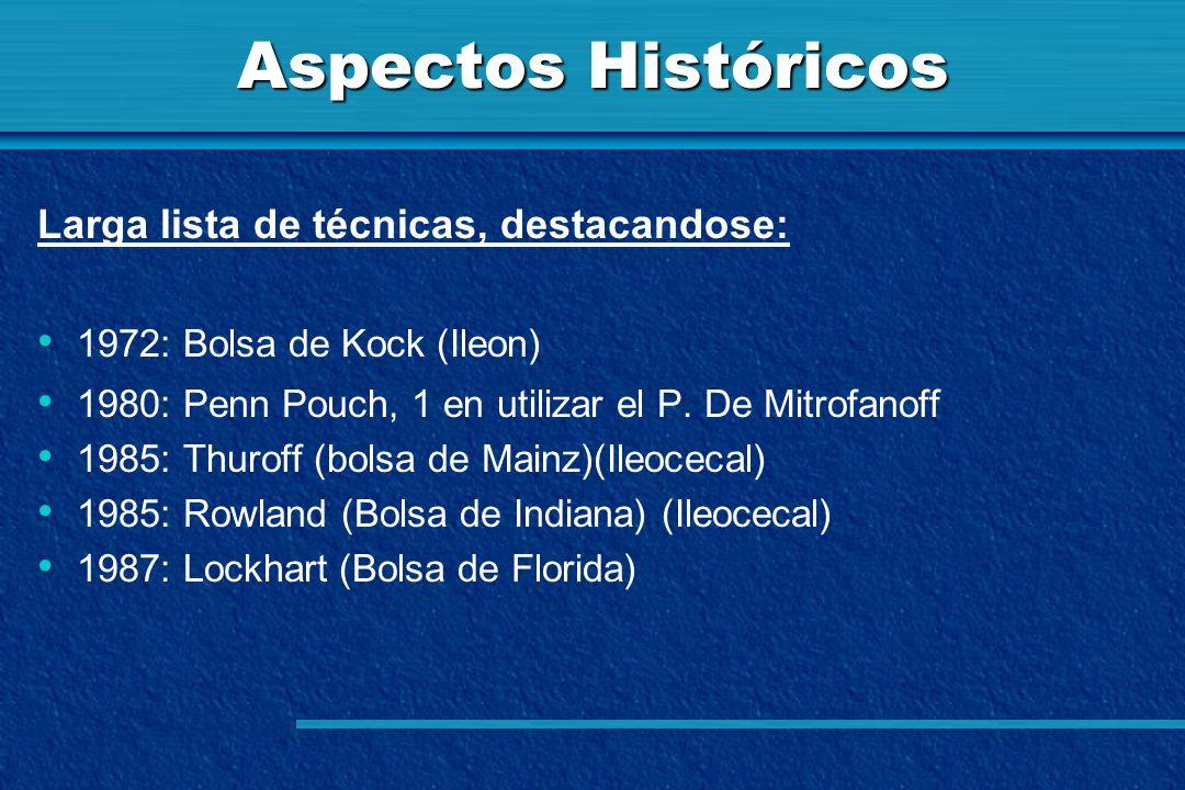 Aspectos Históricos Larga lista de técnicas, destacandose: