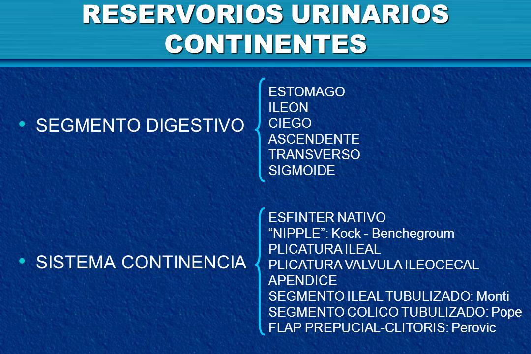 RESERVORIOS URINARIOS CONTINENTES