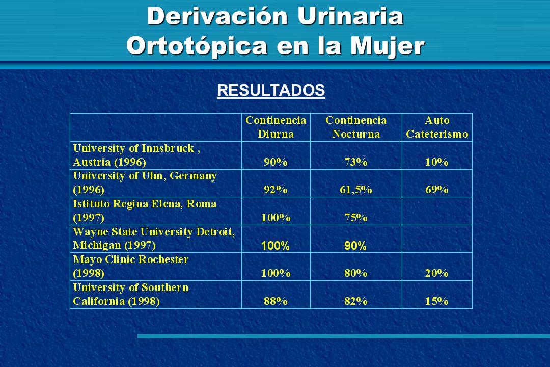Derivación Urinaria Ortotópica en la Mujer