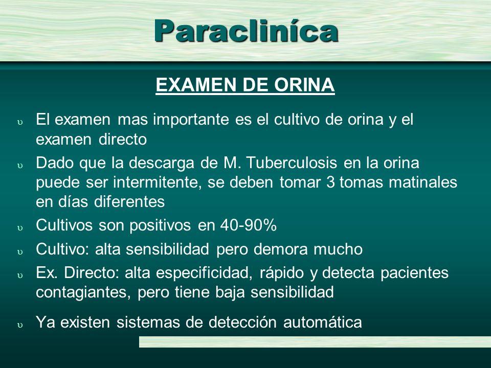 Paracliníca EXAMEN DE ORINA