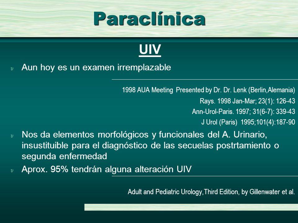 Paraclínica UIV Aun hoy es un examen irremplazable