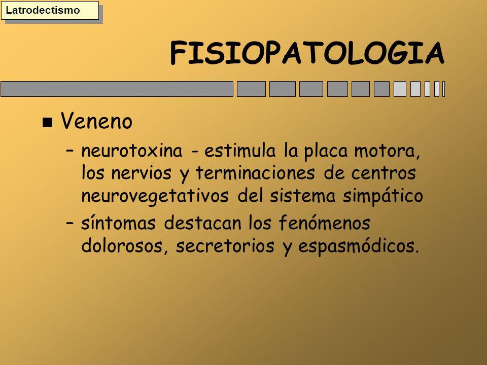 FISIOPATOLOGIA Veneno