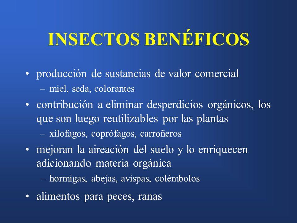 INSECTOS BENÉFICOS producción de sustancias de valor comercial