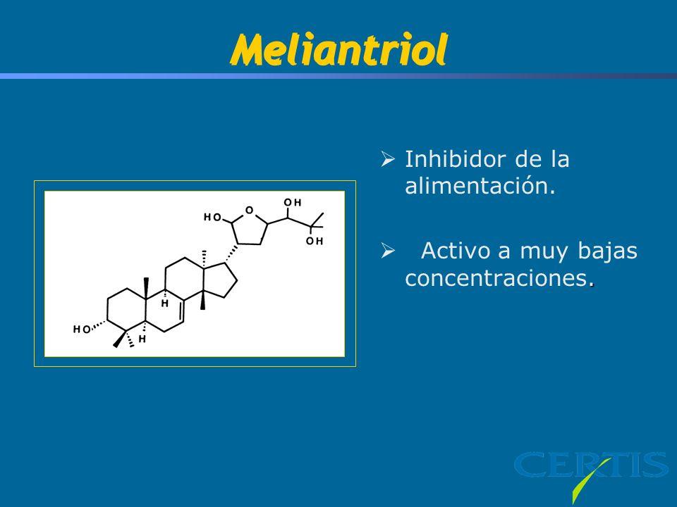 Meliantriol Inhibidor de la alimentación.