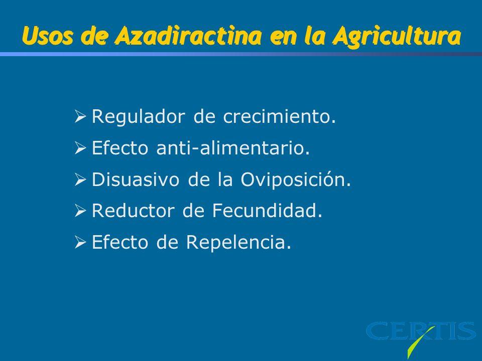 Usos de Azadiractina en la Agricultura