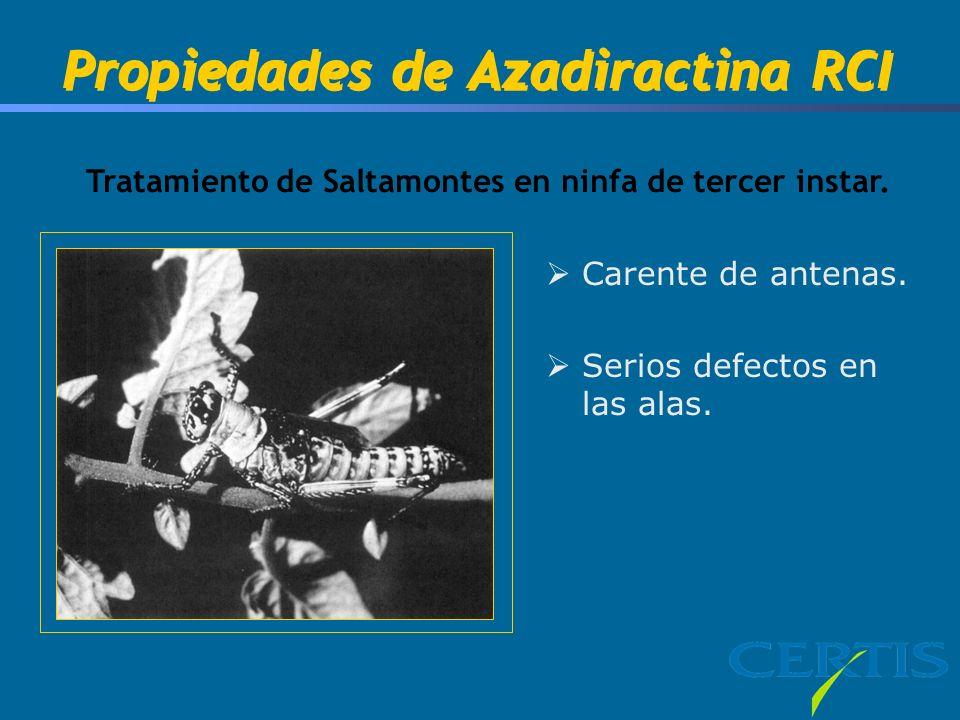 Propiedades de Azadiractina RCI