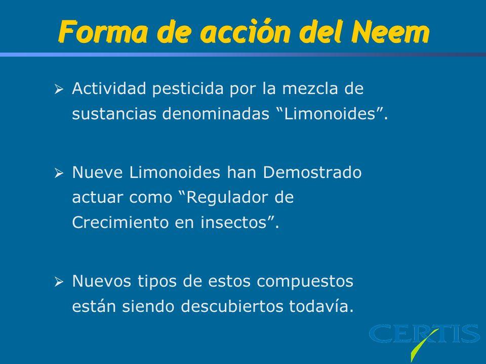 Forma de acción del Neem