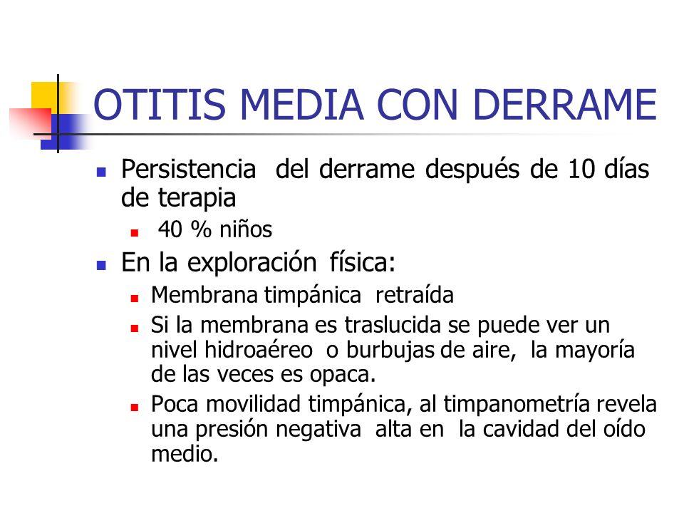 OTITIS MEDIA CON DERRAME