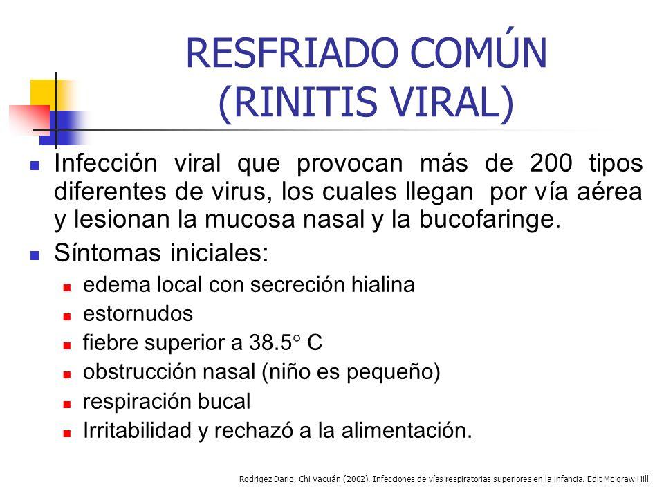 RESFRIADO COMÚN (RINITIS VIRAL)