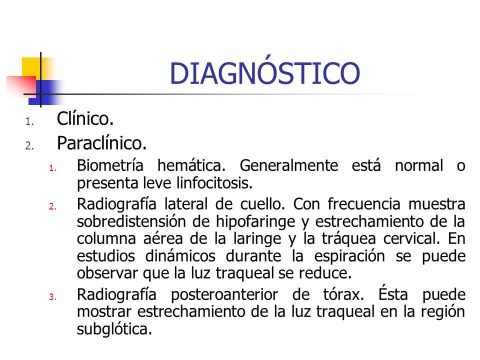 DIAGNÓSTICO Clínico. Paraclínico.