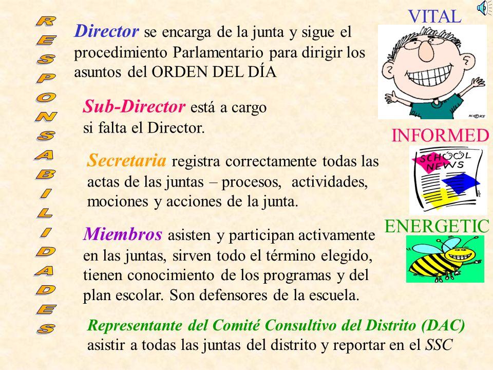 Sub-Director está a cargo