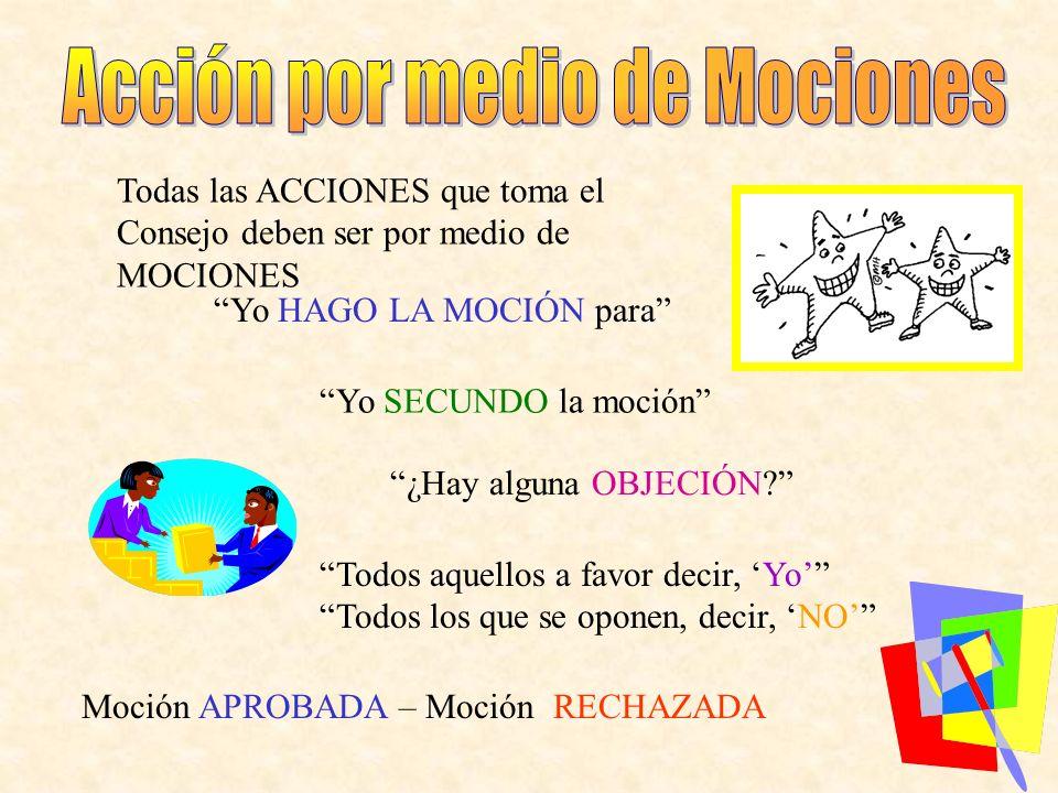 Acción por medio de Mociones