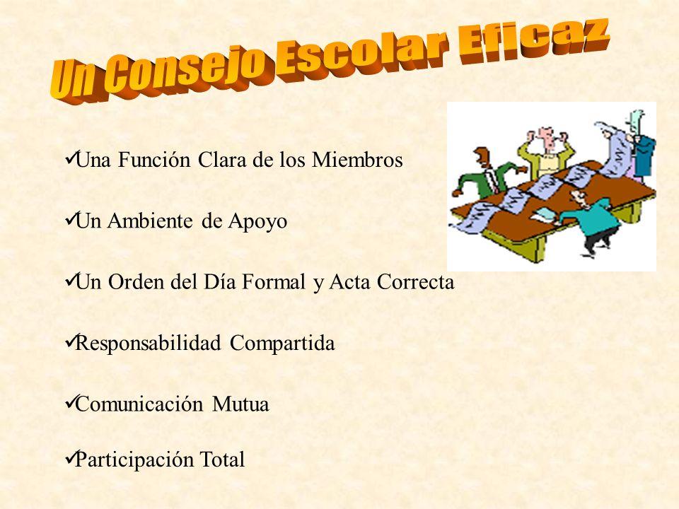 Un Consejo Escolar Eficaz