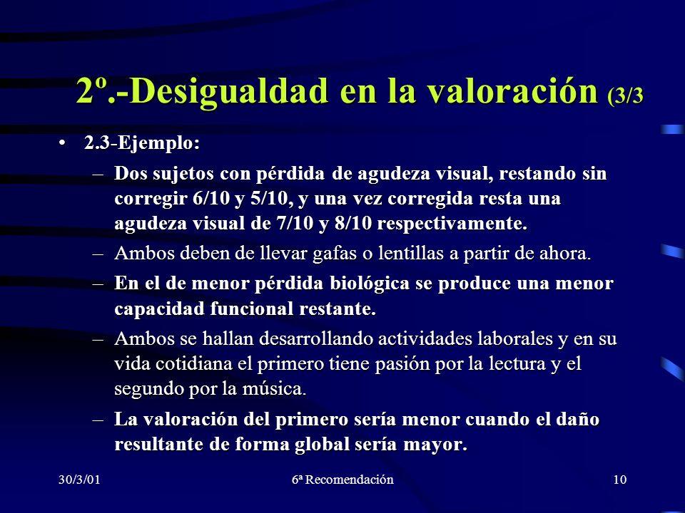 2º.-Desigualdad en la valoración (3/3