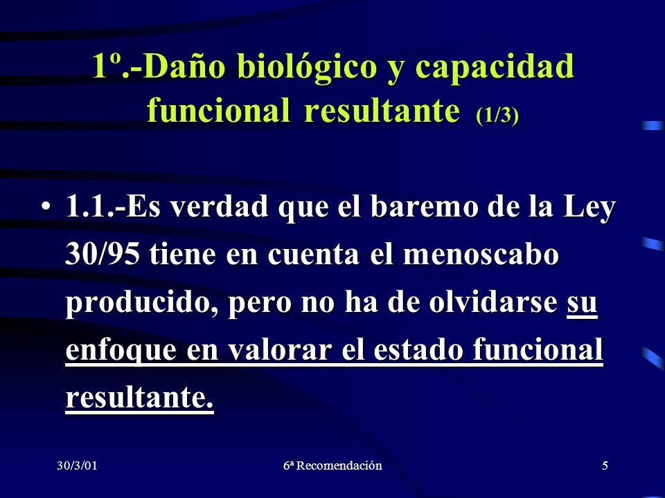 1º.-Daño biológico y capacidad funcional resultante (1/3)