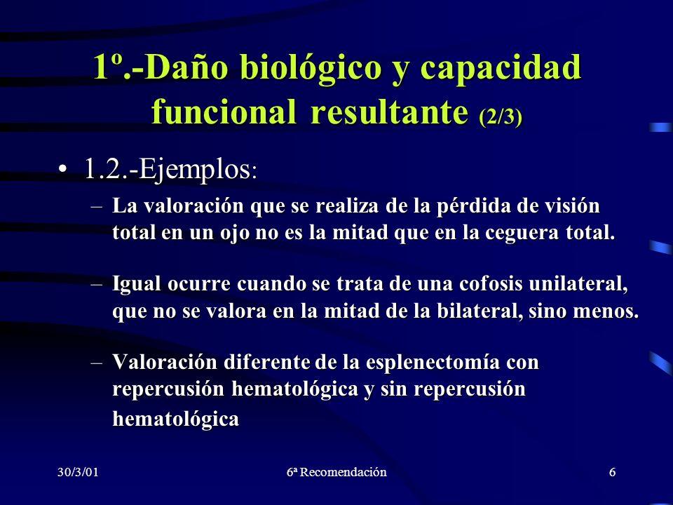 1º.-Daño biológico y capacidad funcional resultante (2/3)