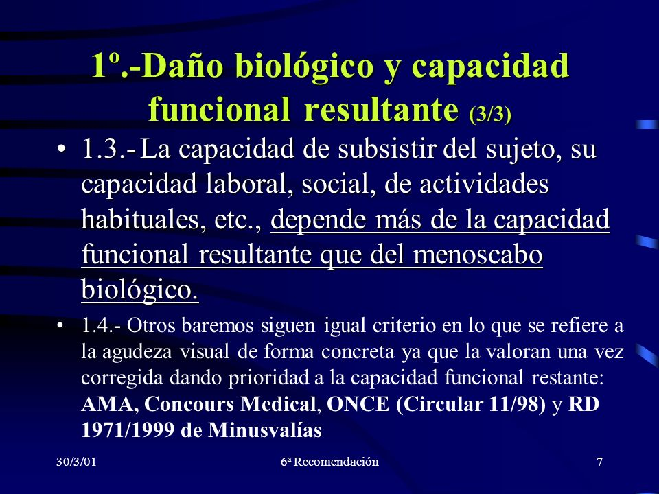 1º.-Daño biológico y capacidad funcional resultante (3/3)