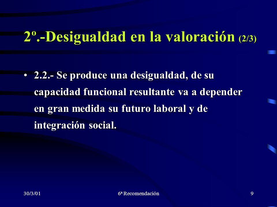 2º.-Desigualdad en la valoración (2/3)