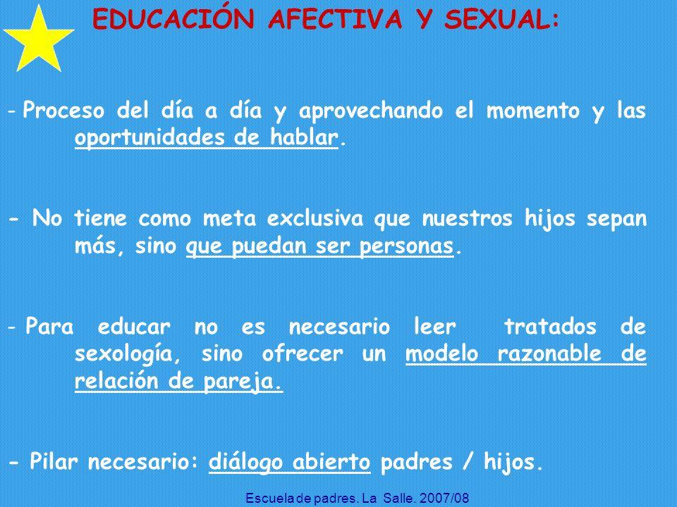 EDUCACIÓN AFECTIVA Y SEXUAL: