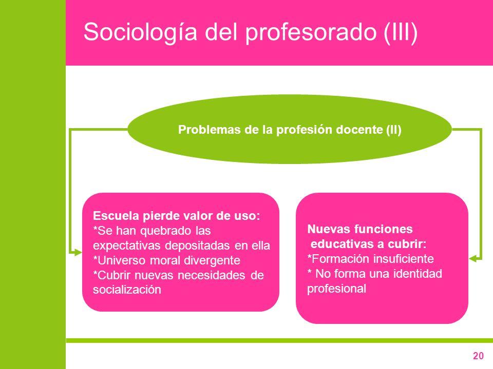 Sociología del profesorado (III)