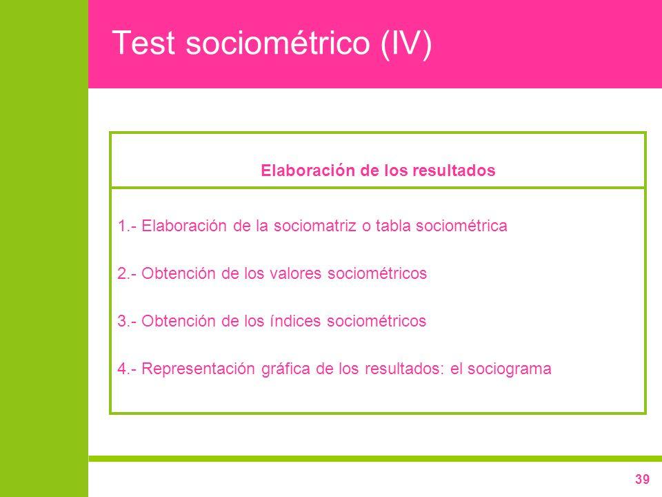 Test sociométrico (IV)