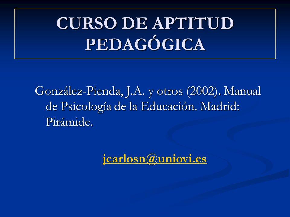 CURSO DE APTITUD PEDAGÓGICA