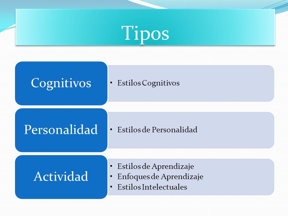 Tipos Cognitivos Estilos Cognitivos Personalidad